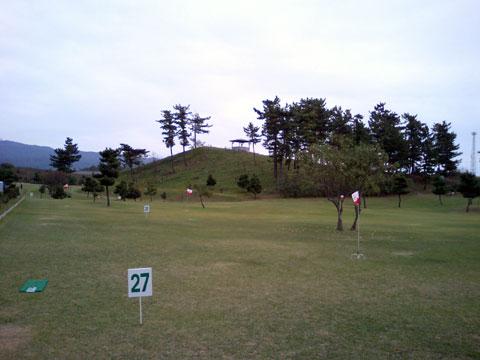 コース設定後のグラウンドゴルフ場
