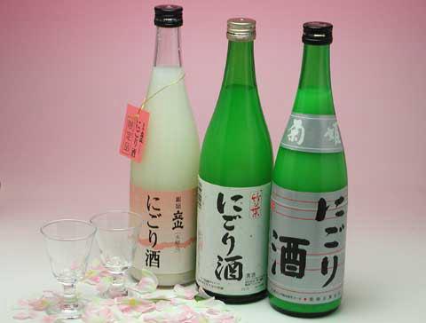 お花見に! にごり酒三種セット 税・送料込 3,800円