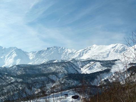 白馬岳が見えています
