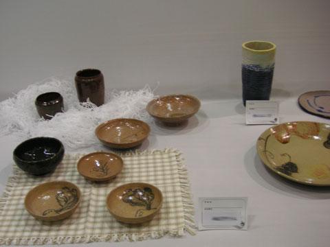 文化祭に出品されていた陶器です