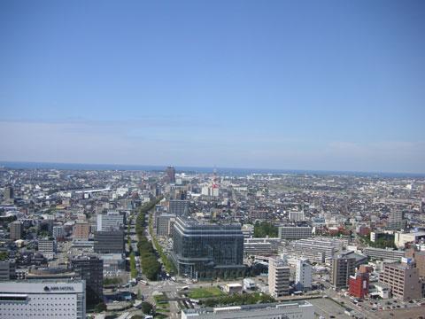 金沢港方面の景色
