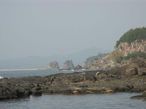 能登金剛の海岸線