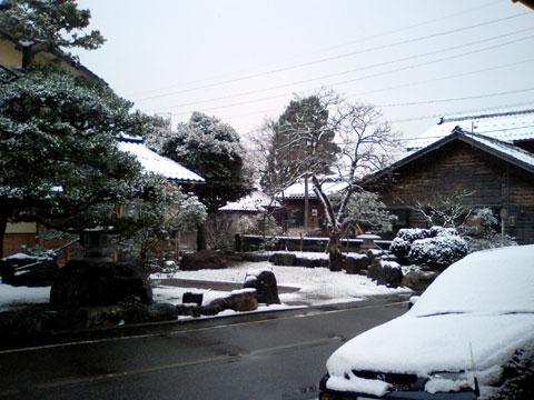 まだまだ少ないですが、久々の雪景色