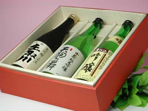 人気蔵吟醸酒三種セット 9,000円 消費税込。送料別