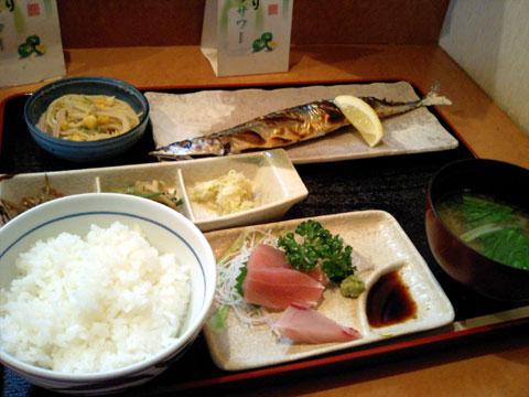 日替わりお魚定食 780円/コーヒー付き