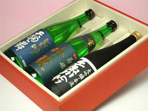 天狗舞、菊姫、手取川 人気蔵 吟醸酒セット 6,300円