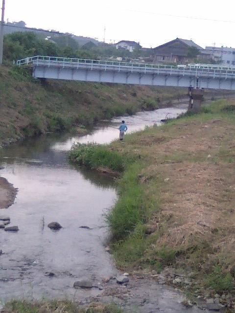 大海川での釣り風景