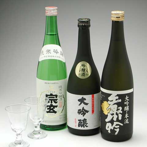 金賞受賞蔵の吟醸酒 吟醸酒&グラスセット 送料・消費税込で6,500円