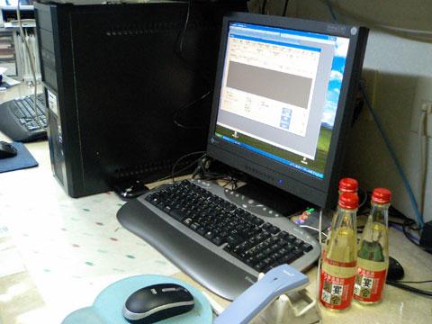 事務所にある酒販店専用POSレジシステムです。 <br />