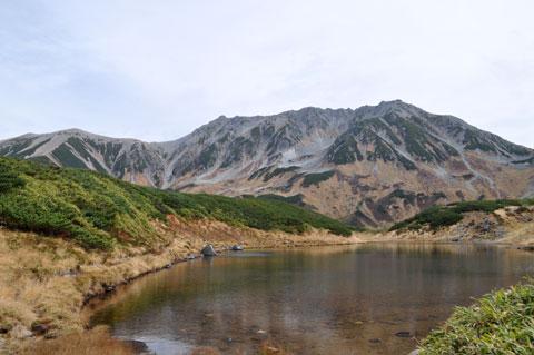 ミドリガ池からの立山三峰