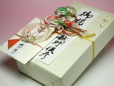 ワイン用飾り熨斗と熨斗金封