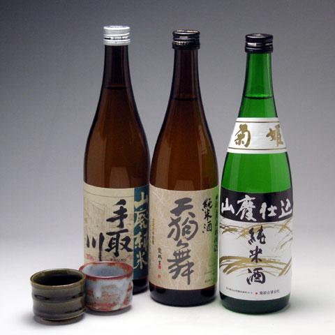 人気蔵山廃純米 三種セット 4,380円