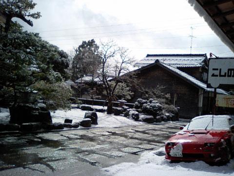 自宅前の雪景色